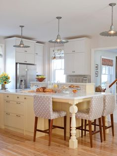Yellow Kitchen with Island - 99 Beautiful Kitchen Island Design Ideas on HGTV