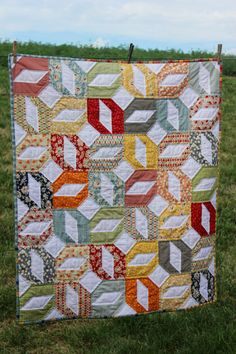 Moda Wee Play Baby Quilt Hand Quilted by lovequilt on Etsy, $130.00