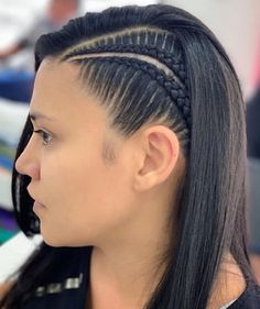 Cornrow hairstyles for caucasian women Cool Braid Hairstyles, Easy Hairstyles For Long Hair, Baddie Hairstyles, Teen Hairstyles, Braids For Long Hair, Athletic Hairstyles, Natural Hair Styles, Short Hair Styles, Cornrow