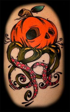 Scary Halloween Themed Tattoo Designs 2013