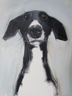 What an awesome black and white dog portrait.  Masterful!