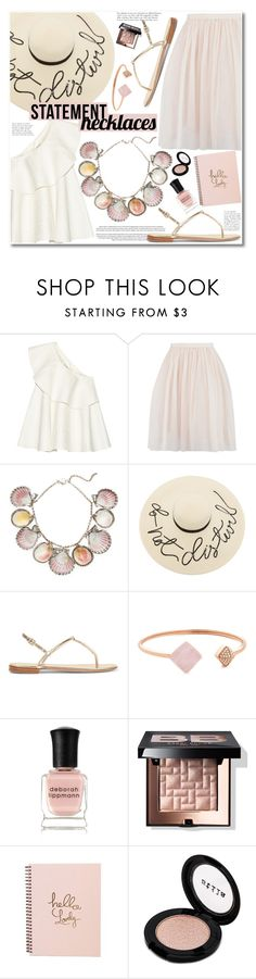 """No 436:Collared! Statement Necklaces"" by lovepastel ❤ liked on Polyvore featuring Solace, Paolo Costagli, Eugenia Kim, AERIN, Michael Kors, Deborah Lippmann, Bobbi Brown Cosmetics, Stila and statementnecklaces"