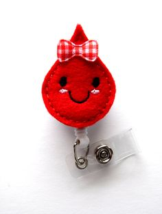 Betty Blood Drop - Retractable Badge Reel - Name Badge Holder - Cute Badge Reel…