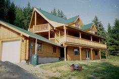 Log Cabin Getaways, Getaway Cabins, Wooden Cabins, Detached Garage, Log Homes, Construction, Mansions, House Styles, Building