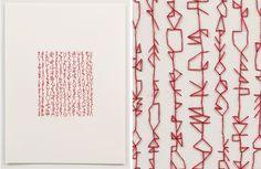 Artist: Emily Barletta ~ Untitled 2 ~ 2011 ~ Thread on Paper ~