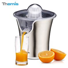 THEMIS CJ3372 85W Powerful Stainless Steel Whisper-quiet Citrus Juicer, Snap-up Spout, Electric Orange Juicer, Juice Extractor-85W Motor *** This is an Amazon Affiliate link. Read more reviews of the product by visiting the link on the image.