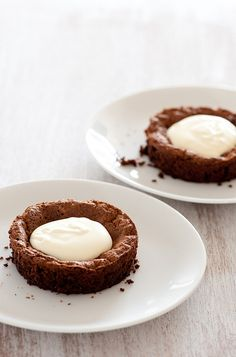 """Flourless Chocolate Cake for Two... a chocolate taste treat from this blog, """"Stone Soup""""."""
