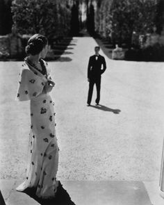 George Hoyningen-Huene, Evening Wear by Carnegie 1935
