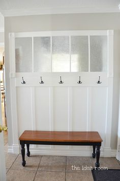 If we were still living in back-pack and permission slip days, this would be great...but we'd need to paint it balc for scuff marks :)   Family Organizational Bulletin Board DIY tutorial