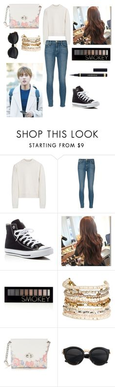 """""""#namjinappreciationday"""" by bts-outfit-imagines ❤ liked on Polyvore featuring Acne Studios, Frame, Converse, Forever 21, Panacea, Candie's, Seok and Yves Saint Laurent"""
