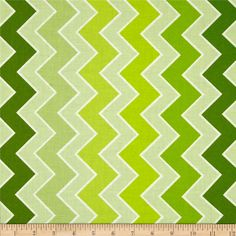 Riley Blake Medium Shaded Chevron Grasshopper | 100% cotton | Width: 44""