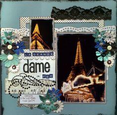 Paris - Scrapbook layout