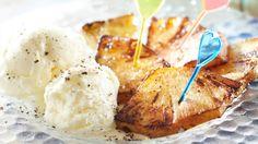 Paistettu ananas Camembert Cheese, Mashed Potatoes, Food And Drink, Ethnic Recipes, Pineapple, Whipped Potatoes, Smash Potatoes