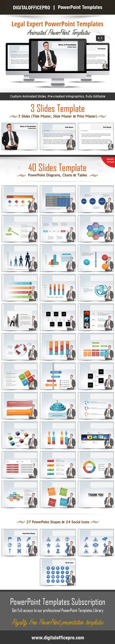 Impress and Engage your audience with Legal Expert PowerPoint Template and Legal Expert PowerPoint Backgrounds from DigitalOfficePro. Each template comes with a set of PowerPoint Diagrams, Charts & Shapes and are available for instant download.