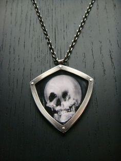 Skull Illusion Pendant by charlotteburkhart on Etsy, $230.00