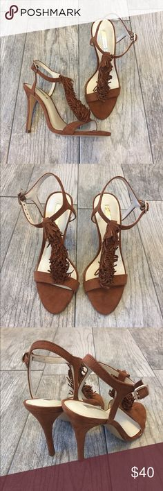 "🆕BCBGeneration Fringe-trim Heels Brand new never worn! BCBGeneration fringe trim Heels in dark brown suede. Completely sold out everywhere. 4"" heel. No box. BCBG Shoes Heels"