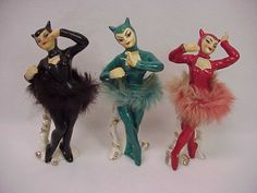 3 Vintage DEVIL Girl Ballerina Dancers Japan FOR SALE • $129.01 • See Photos! Money Back Guarantee. Payment | Info 3 Vintage DEVIL Girl Ballerina Dancers Japan Click to View Image Album Click to View Image Album Click to View Image Album Click to View Image Album 112204813688 Vintage Ceramic, Vintage Art, Vintage Antiques, Art Nouveau, Satan, Poker, Ballerina, Devil Costume, Half Dolls