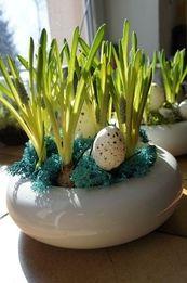 Wielkanocny stroik z szafirków