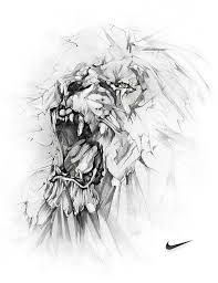 Alexis marcou - nike lion art graphite drawings, drawings et Art And Illustration, Animal Drawings, Art Drawings, Cool Tattoo Drawings, Creation Art, Lion Art, Graphite Drawings, Lions, Amazing Art