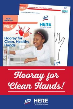 Hooray for Clean Hands!—In this PreK lesson, students learn about handwashing through an arts and crafts project in which they make drawings representing clean and dirty hands. A fun and easy activity for at home or in class!
