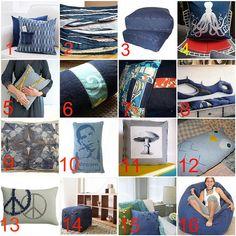 More Denim recycles--Pillows by Cara.Mia, via Flickr