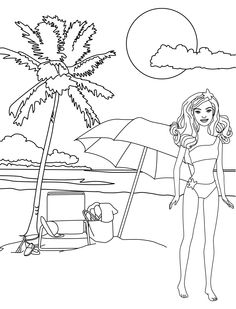 Customize A Barbie Coloring Page 1500 Free Paper Dolls Arielle Gabriels The International Doll