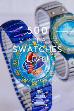 Grunge Fashion, Retro Fashion, Vintage Swatch Watch, Black Water, Vintage Models, Luxury Watches For Men, Vintage Watches, Vintage Pink, Wedding Jewelry