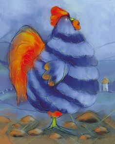 Chicken Pictures, Prints, Paintings & Wall Art for Sale Blue Chicken, Chicken Art, Chickens And Roosters, Pet Chickens, Chicken Pictures, Chicken Painting, Rooster Art, Animal Posters, Art Posters