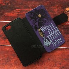 Alice In Wonderland Wallet Cases | ideacases.com - cute graphic tees    ORDER HERE => https://ideacases.com/shop/