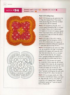 MOSSITA BELLA PATRONES Y GRÁFICOS CROCHET : Beyond the Granny Square Crochet Motif Square 88-103