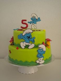 The Smurfs cake Top Smurfs Cakes birthday party girl boys schtroumphs