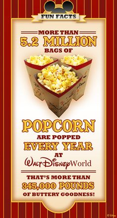 Every Day Is Popcorn Day at Walt Disney World Resort. Guess we'll have to try it when we return to Disney World! #popcorn #disneyworld