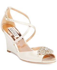 Badgley Mischka Abigail Evening Wedge Sandals - can I really spend $200 on shoes? maaaaybe