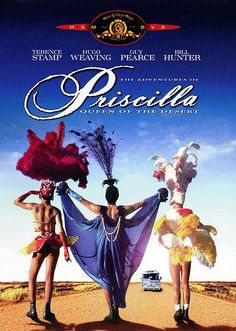 The Adventures of Priscilla, Queen of the Desert:  this movie is not particularly hilarious, and the musical numbers are painfully too long, but the general spirit of film makes one smile for ninety-plus-minutes, and the three leads (each with a different approach) are fun to watch; good Australian scenery, too