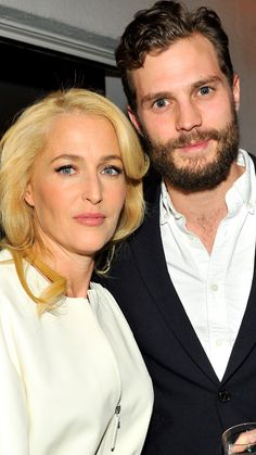 Gillian Anderson and Jamie Dornan, cast-mates from The Fall