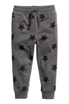 Patterned jogger-style pants in soft jersey made from an organic cotton blend. Boys Clothes Style, Baby Kids Clothes, Kids Fashion Boy, Toddler Fashion, Girl Dress Patterns, Shirt Print Design, Fashion Joggers, Baby Pants, Mens Joggers