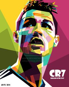 Cristiano Ronaldo in WPAP by aditzprasetya on DeviantArt Cristiano Ronaldo Cr7, Cr7 Messi, Cristiano Ronaldo Wallpapers, Ronaldo Soccer, Cristano Ronaldo, Lionel Messi, Soccer Art, Football Art, Sport Football