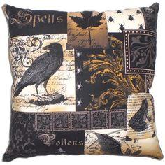 Gothic Raven Kissen viktorianisch Steampunk Home Decor von AllegraB