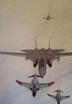 F-14 and F-4s