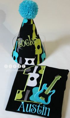 Guitar birthdayguitar birthday setone rocks by Gottagetadiapercake, $15.00