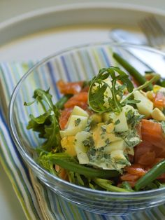 Salade haricots verts oeufs