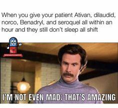 Humor Nurse Medicine 26 Ideas For 2019 Night Nurse Humor, Nurse Jokes, Night Shift Nurse, Nursing School Humor, Funny Nurse Quotes, Funny Memes, Nursing Schools, Hilarious, New Nurse Humor