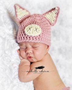 Newborn Pig Hat, Baby Pig Hat