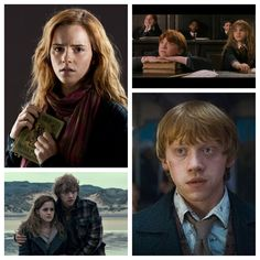 Emma Watson and Rupert Grint as Ron and Hermione from Harry Potter
