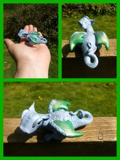 ooak polymer clay dragon. $23.00, via Etsy.