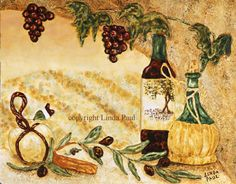 This is the Theme!  Italia--grapes and wine (but w/ an old old Roman twist.)