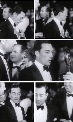 """"""" Buster Keaton at the """"Hell's Angel's"""" premiere November 1930. He looks so elegant in these pictures…and smokin' hot, of course. """""""