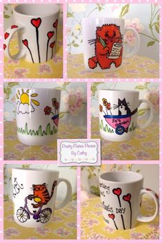 Hand painted personalised Mugs - The Supermums Craft Fair