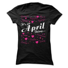 APRIL THING AWESOME SHIRT - #cute shirt #red sweater. CLICK HERE => https://www.sunfrog.com/Names/APRIL-THING-AWESOME-SHIRT-Ladies.html?68278
