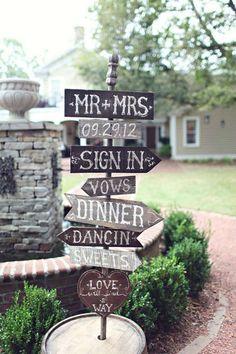 Carteles de boda en madera: fotos ideas - Ideas originales carteles para boda